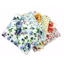 Fat Quarter Bundle - 100% Cotton - Spring Flowers - Pack of 6