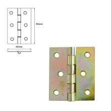 1 Pcs Folding Closet Cabinet Door Butt Hinge Brass Plated 40x40mm