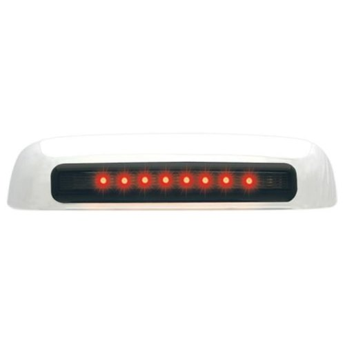 IPCW CLR02CT2 Chevrolet Avalanche 2002 - 2006 LED Tailgate Handle, Chrome Red Led, Smoke Lens