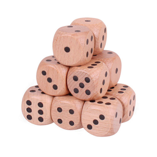 Bigjigs Toys Giant Wooden Dice (Natural - Pack of 12)