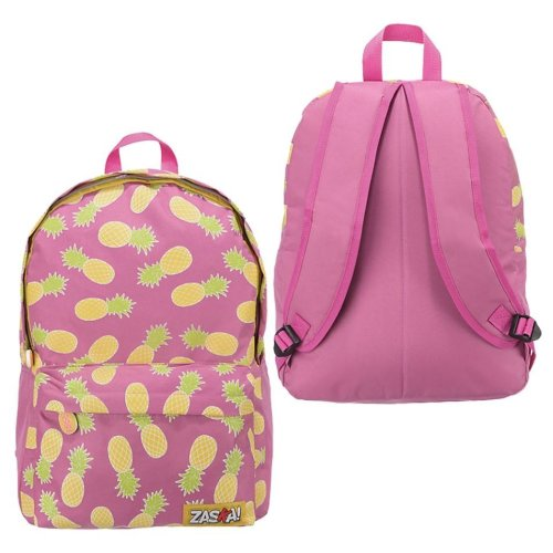 Pink PINEAPPLE Backpack with Front Zipper 41cm x 31cm