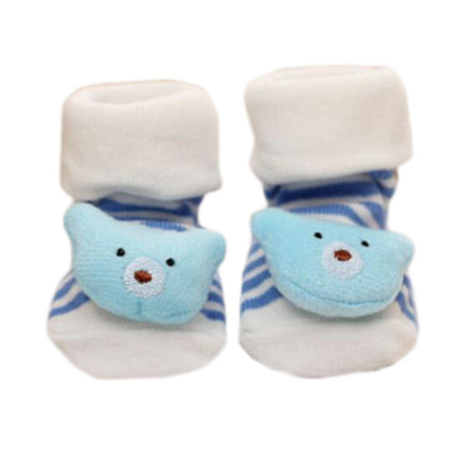 3 Pairs Non-slip Newborn Baby Toddler Socks Comfortable Warm Stockings Baby Birthday Gift For 6-12 month-A06