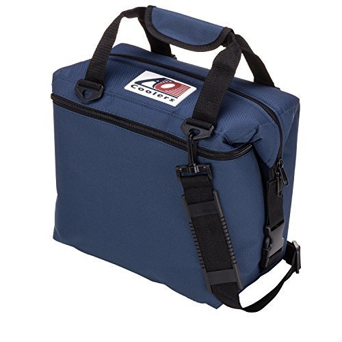 Ao Coolers Canvas Soft Cooler With High Density Insulation Navy Blue 12 Can