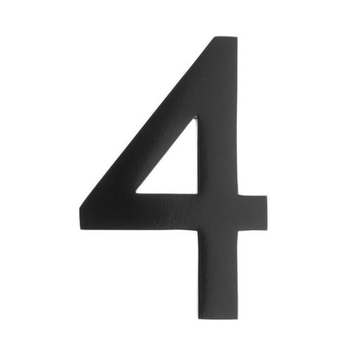 Architectural Mailboxes 3582DC-6 4-Inch Solid Cast Brass Floating House Number,6 Dark Aged Copper