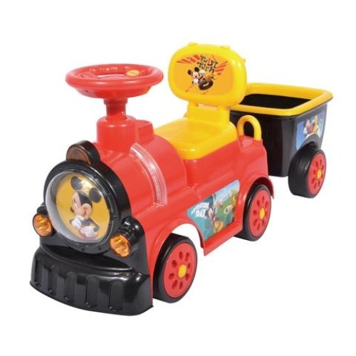 RideonToys4u Mickey Mouse Train With Trailer Push Along With Under Seat Storage Space Ages19-36 Months