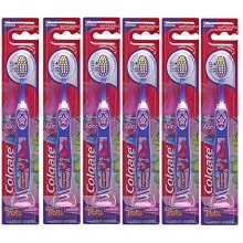Colgate Kids Toothbrush Trolls with Suction Cup, Extra Soft, Children Ages 5+, (Pack of 6)