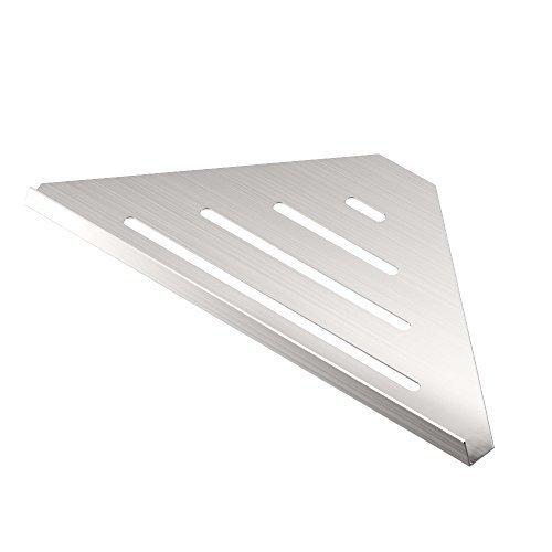 Gatco 1464 Elegant Corner Shelf Brushed 13