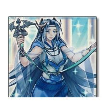 Yu-Gi-Oh! - Priestess with Eyes of Blue (SHVI-EN098) - Shining Victories - 1st Edition - Super Rare