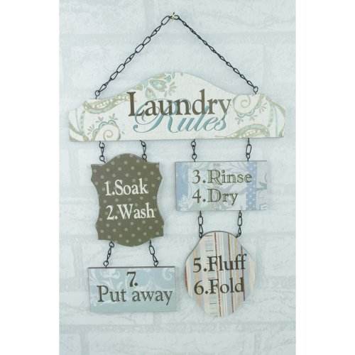 Laundry Rules Wall Plaque Sign Picture SG1300