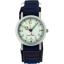 Cannibal Active Boys Navy Blue & Black Velcro Strap Children's Watch CK002-5N