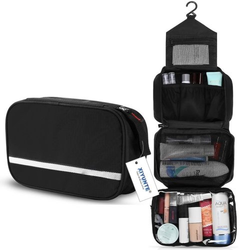 Hanging Toiletry Bag Waterproof Small Travel Foldable Wash For Men Women Makeup With 4 Compartments High Quality Zipper Cosmetic Bags