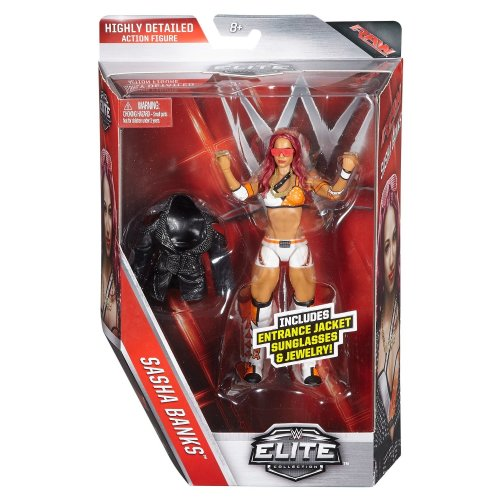WWE Sasha Banks Elite Series 44 Mattel Wrestling Action Figure Brand New Sealed