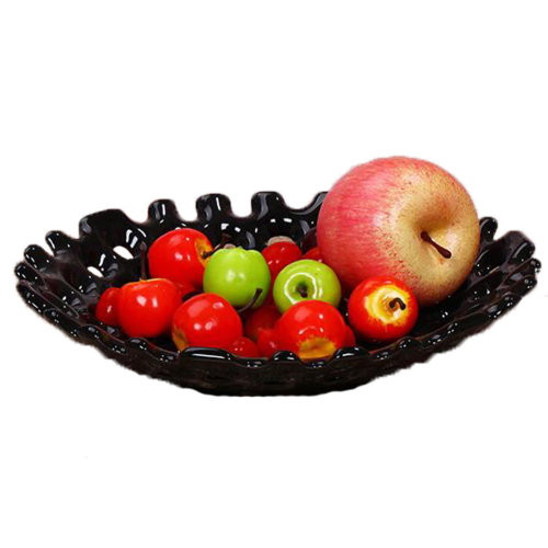 SimpleStly Modern Ceramic Fruit Plate Fruit Basket Candy Dish Dried Fruit PlateB