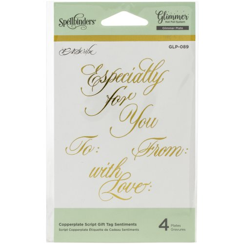 Spellbinders Glimmer Hot Foil Plate-Copperplate Script Gift Tags