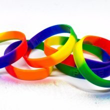 LGBT Gay Lesbian Pride Rainbow Wristband