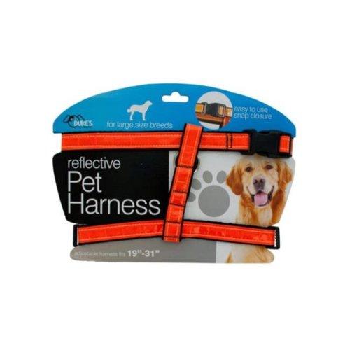 Kole Imports DI553-4 Large Reflective Dog Harness - Pack of 4