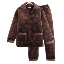Men Pajamas Warm Thick Cotton Modern Set Sleepwear/Nightwear Clothes for Home, #No.7