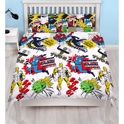 Marvel Comics Scribble Reversible Double Duvet Cover
