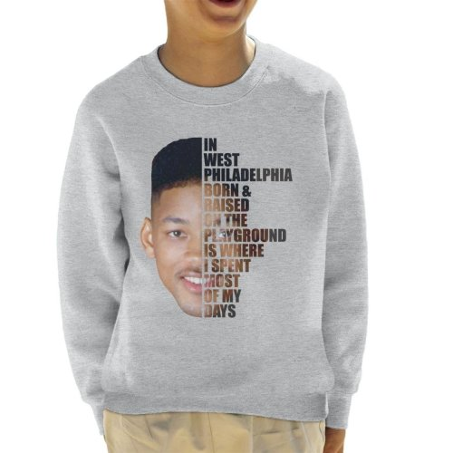 Fresh Prince Of Bel Air Half Head Text Kid's Sweatshirt