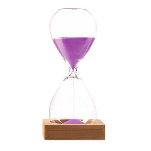 Elegant Hourglass Light Purple Sand Timer Sand Clock Timer 30 Minute