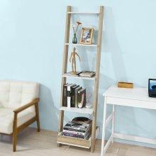 SoBuy® FRG229-WN, Wall Ladder Shelf Bookcase Storage Display Shelving