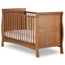 Izziwotnot Bailey Sleigh Cot Bed - Oak