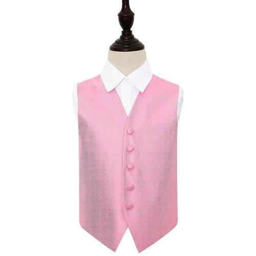 Baby Pink Greek Key Wedding Waistcoat for Boys 22'