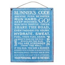 Runners Code Metal Wall Signs Plaques Running Jogging Retro Vintage Novelty Door Wall Hanging Gift Home