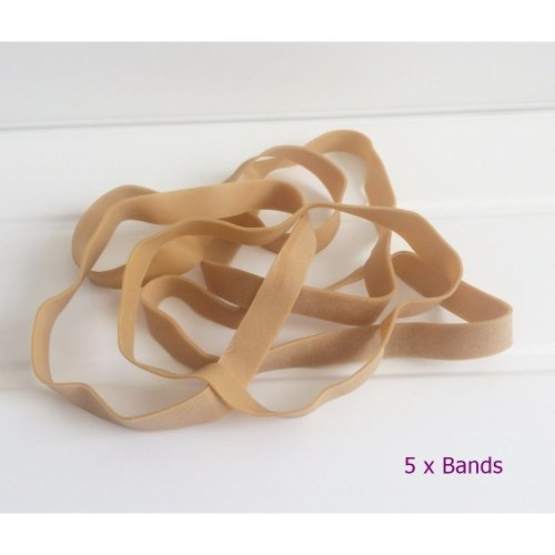 "5 x Strong Extra Long & Wide 8"" Rubber Elastic Bands Heavy Duty 200mm x 16mm No.108"