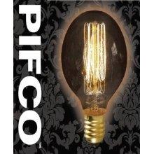 PIFCO G80 40 Watt E27 ES Vintage Globe Retro Light Bulbs