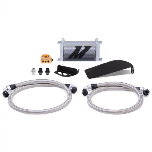 2017+ Mishimoto Honda Civic Type R Direct Fit Oil Cooler Kit, Silver
