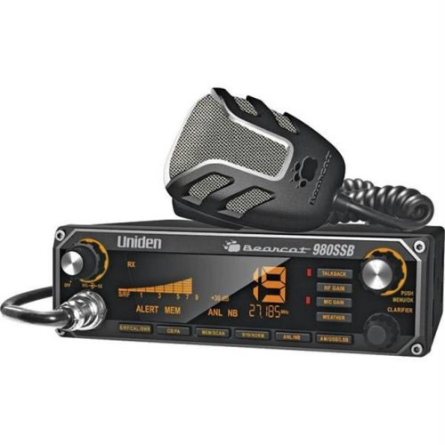 Uniden 40-Channel CB Radio with SSB USB-LSB and Noise Canceling Microphone - BEARCAT980SSB