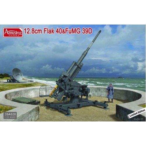 1:35 German 12.8cm Flak 40 & FuMG 39D 128 mm Gun and Radar Military Model Kit