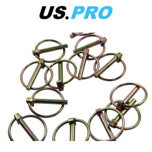 US PRO 50pc 6.00mm Lynch Pin Ring Clip Set 9023