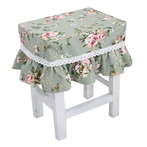 Canvas Stool Cover Makeup Stool Cover Blue