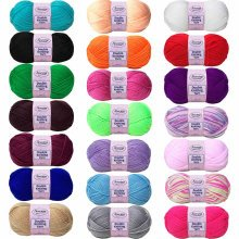 100g Soft Double Knitting Sewing Yarn Polyester Crochet Wool 240m - 21 Colours
