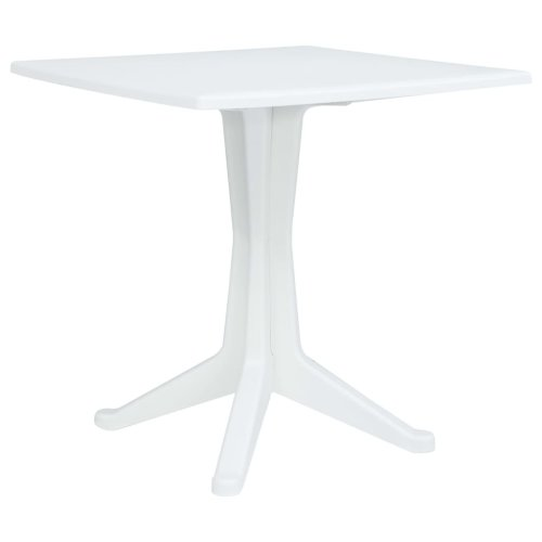 vidaXL Garden Table White 70x70x71.7cm Plastic Outdoor Furniture Square Desk