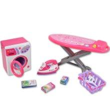deAO Toys Washing & Ironing Play Set | Children's Laundry Play Set
