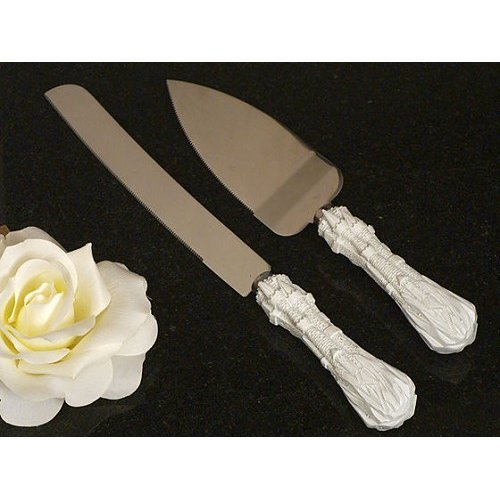 Fairytale Castle Theme Wedding Cake And Knife Server Set