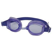 Adult Size Purple Swim Goggles - Aqua Swimtech Swimming Poly Carbonate Uv -  aqua adult goggles swimtech swimming purple poly carbonate uv protection