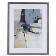 Fluidity I - Blue Mood Contemporary Framed Print