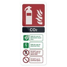 Fixman Co2 En3 Fire Extinguisher Sign 202 x 82mm Rigid - Fire Extinguisher Sign -  fire extinguisher sign co2 en3 82mm rigid fixman 202 683625