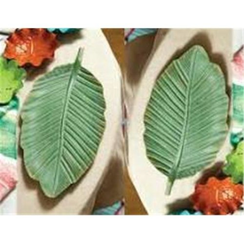 Manual Woodworkers & Weavers IMPLMT 17.75 x 8.5 x 0.75 in. Leaf Metal Tray - Set of 2