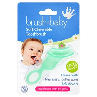 Brush-Baby Soft Blue Chewable Toothbrush (10months – 3years) – Massages, Soothes & Cleans