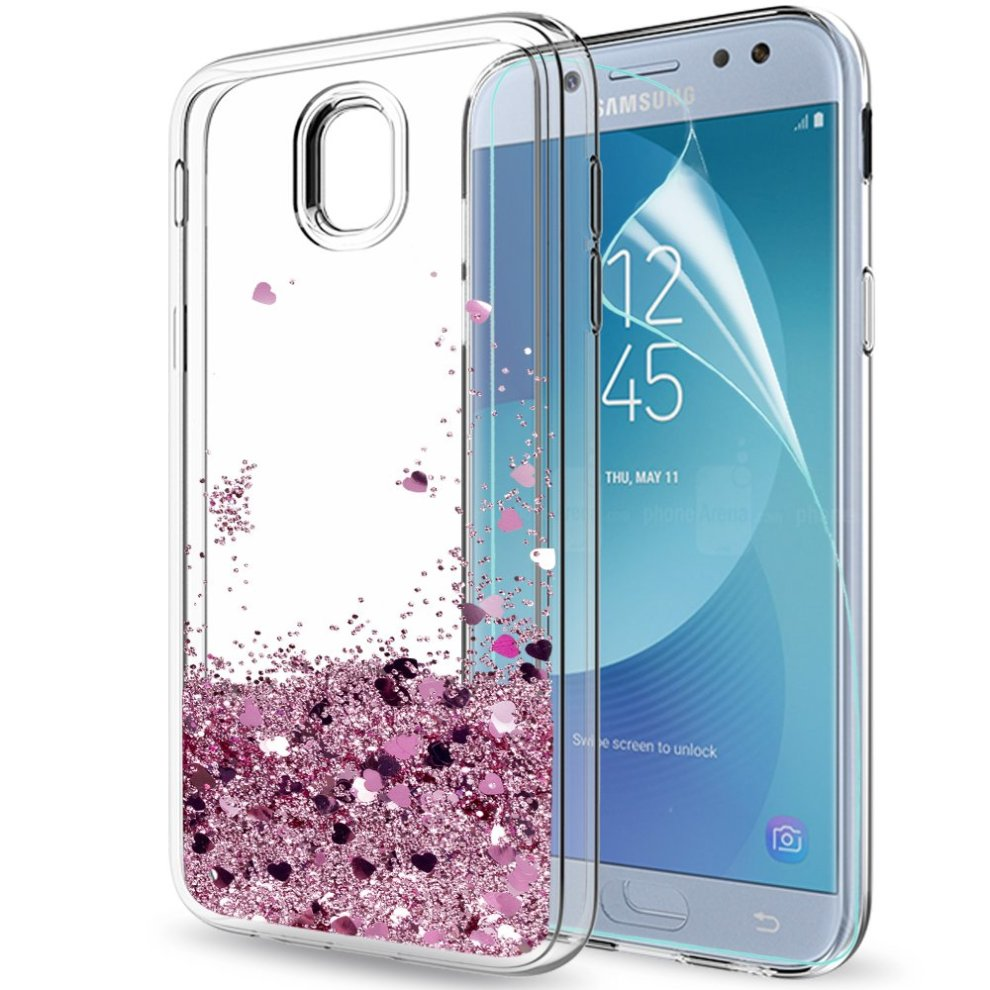 a583ff3879f Samsung Galaxy J5 2017 Case with HD Screen Protector, LeYi Glitter Liquid  Sparkly Bling Flowing ...
