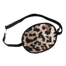Children Silk Sleep Eye Patch for Lazy Eye Amblyopia Treatment ,Brown Leopard Print