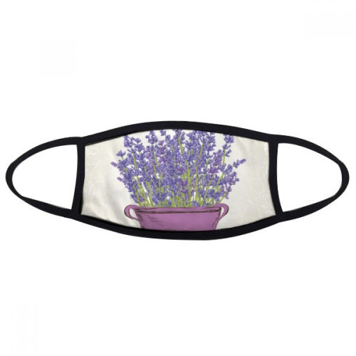 Purple Lavender Pot Flower Plant Mouth Face Anti-dust Mask Anti Cold Warm Washable Cotton Gift