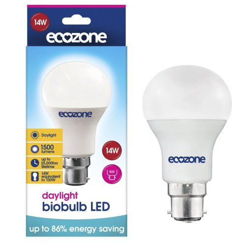 Ecozone LED biobulb, Energy Saving, Daylight Bulb, Bayonet Cap B22