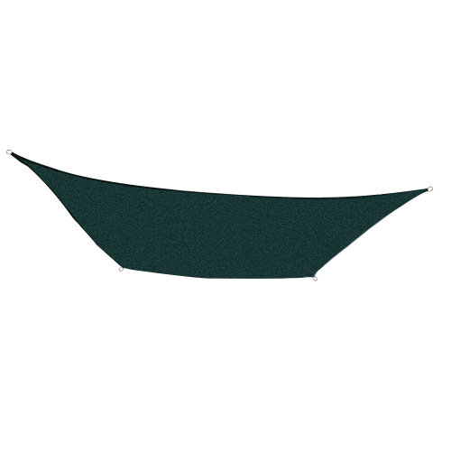 Outsunny 4m x 3m Rectangle Sail Shade Sun Canopy Patio Garden Shade Awning + Free Ropes (Green)