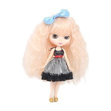 Wigs Only!Cheap Blythe Pullip Doll Wig Peachy Pink Color Fluffy Classic Wavy Doll Hair Wigs with Bangs Baby Doll Hair